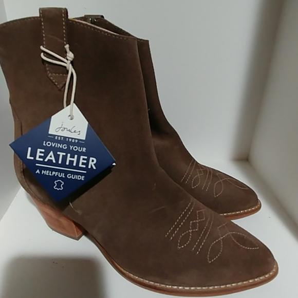 Joules Elmwood Suede Western Boot GREY